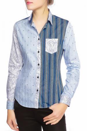 Рубашка GAZOIL. Цвет: blue