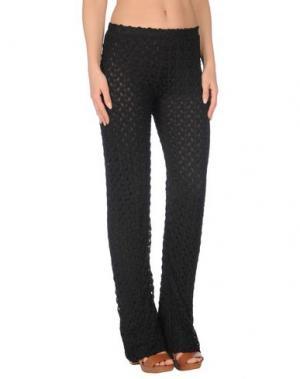 Пляжные брюки и шорты SOLOBLU. Цвет: черный