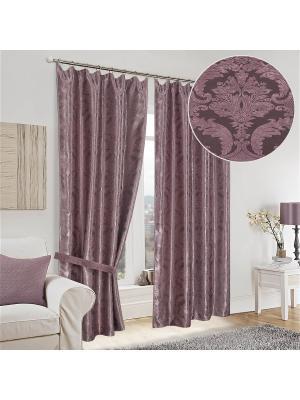 Шторы интерьерные Винсента Олимп Текстиль. Цвет: темно-бордовый