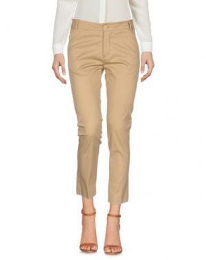 Повседневные брюки SPAGO DONNA. Цвет: песочный