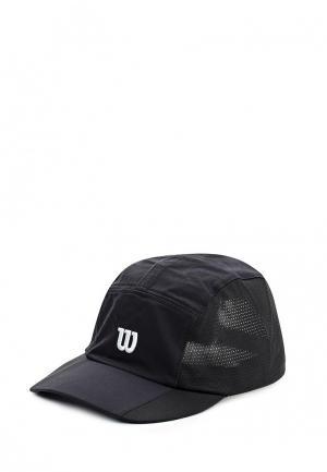 Бейсболка Wilson. Цвет: черный