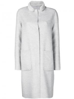Однобортное пальто Manzoni 24. Цвет: серый