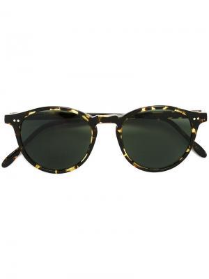 Солнцезащитные очки в черепаховой оправе Pantos Paris. Цвет: телесный