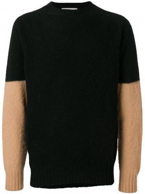 Джемпер с контрастными рукавами YMC. Цвет: чёрный