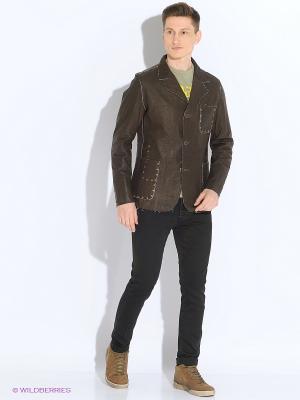 Пиджак VON DUTCH. Цвет: коричневый