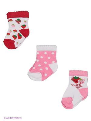 Носки BUONUMARE. Цвет: красный, розовый, белый