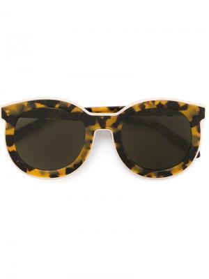 Солнцезащитные очки с круглой оправой Karen Walker Eyewear. Цвет: коричневый