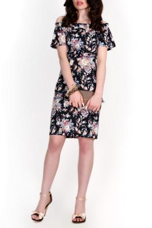 Платье FRANCESCA LUCINI. Цвет: мультиколор