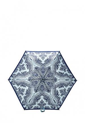 Зонт складной Fabretti. Цвет: голубой