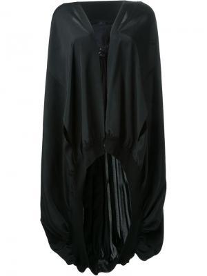 Накидка-кейп с капюшоном Yohji Yamamoto. Цвет: чёрный