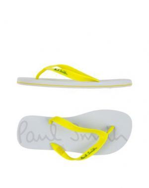 Вьетнамки PAUL SMITH. Цвет: желтый