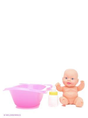 Пупс с ванночкой VELD-CO. Цвет: бежевый