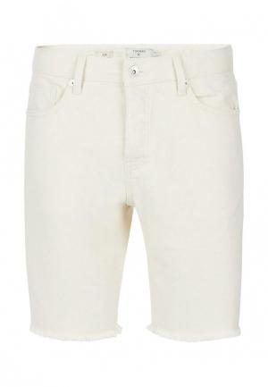 Шорты джинсовые Topman. Цвет: белый