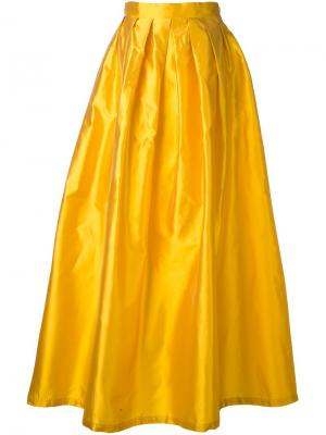 Длинная юбка с блестящим эффектом Ultràchic. Цвет: жёлтый и оранжевый