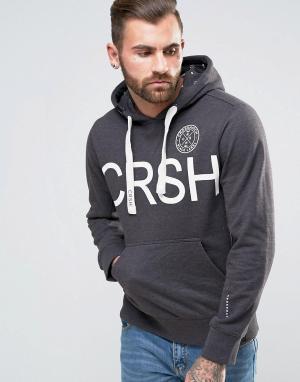 Crosshatch Худи с логотипом. Цвет: серый