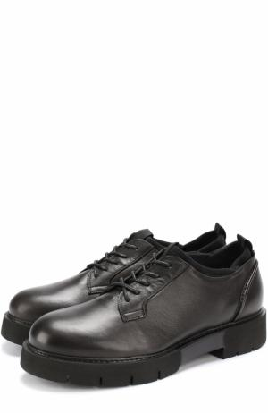 Кожаные полуботинки на шнуровке O.X.S.. Цвет: черный