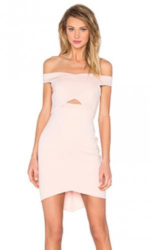 Мини-платье с открытыми плечами desert of paradise BEC&BRIDGE. Цвет: румянец