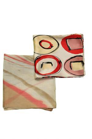 Набор шарфов 2 шт. Frantelli. Цвет: розовый, бежевый