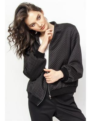 Куртка Solo Farfalle. Цвет: черный