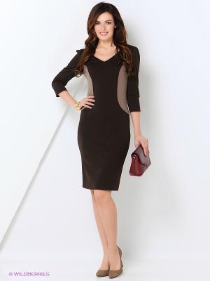 Платье МадаМ Т. Цвет: коричневый, темно-бежевый