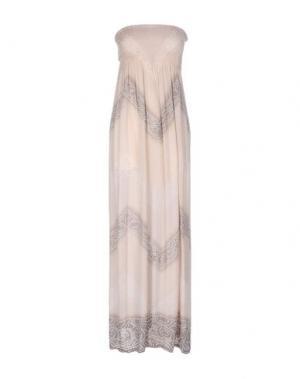 Длинное платье COOLCHANGE. Цвет: песочный