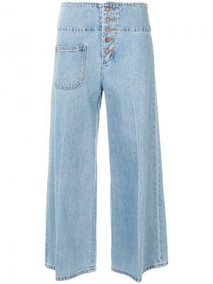 Широкие джинсы Retro Marc Jacobs. Цвет: синий