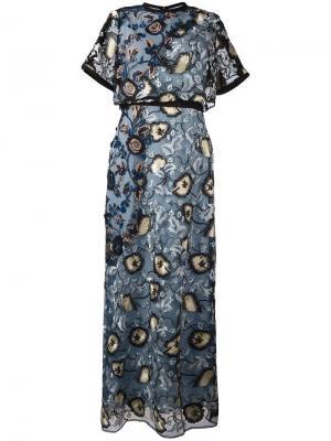 Платье Florentine Self-Portrait. Цвет: синий