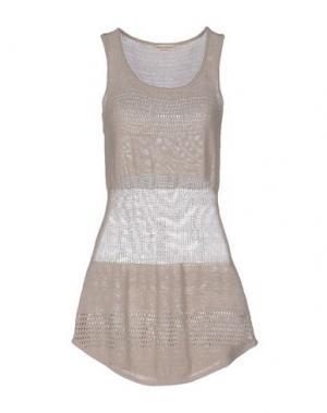 Короткое платье CASHMERE COMPANY. Цвет: бежевый