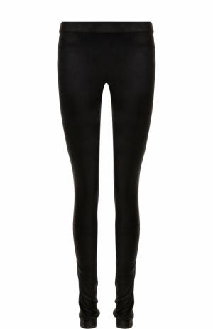 Кожаные брюки-скинни Isabel Benenato. Цвет: черный