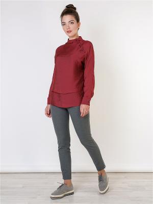 Блузка MAYAMODA. Цвет: бордовый, малиновый
