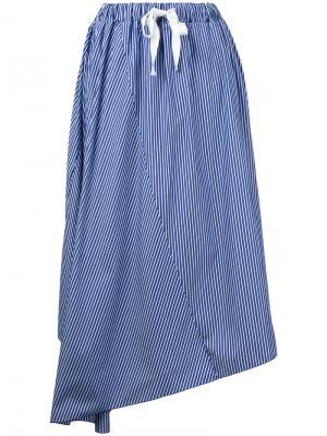 Асимметричная юбка Astraet. Цвет: синий