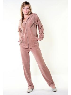 Велюровый костюм Тефия. Цвет: темно-бежевый