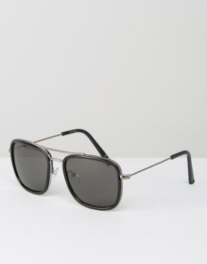 Jeepers Peepers Солнцезащитные очки-авиаторы. Цвет: черный