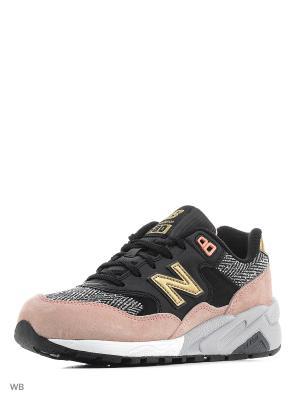 Кроссовки NEW BALANCE 580. Цвет: бледно-розовый