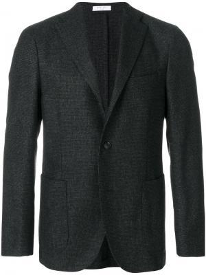 Твидовый пиджак Boglioli. Цвет: чёрный
