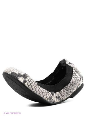 Балетки ASH. Цвет: серый, черный