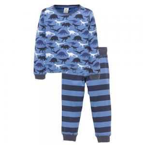 Пижама, 100% хлопка ELLOS. Цвет: принт синий