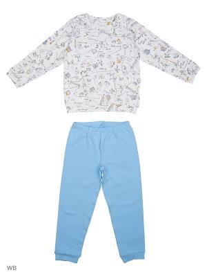 Пижама Ritta Romani. Цвет: голубой, белый