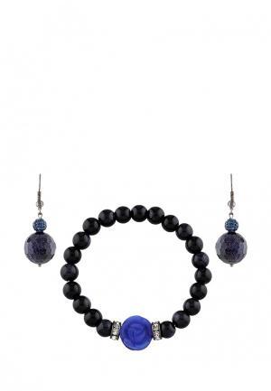 Комплект браслет и серьги Anna Slavutina. Цвет: синий