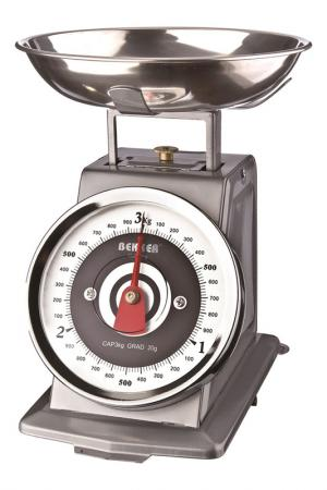 Кухонные весы 3 кг Bekker. Цвет: серебристый