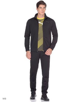 Костюм спортивный  Techstripe Tricot Suit op PUMA. Цвет: черный