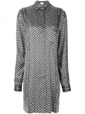 Платье-рубашка с принтом Lala Berlin. Цвет: чёрный