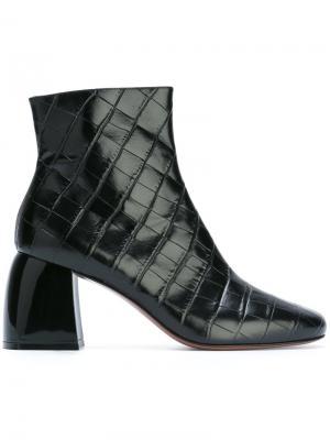 Стеганые ботинки Sibari Sportmax. Цвет: чёрный