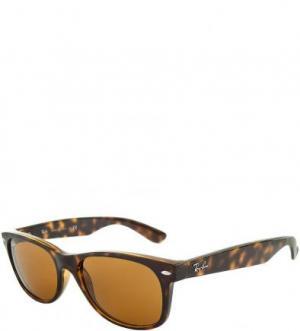 Очки-вайфареры с коричневыми линзами Ray Ban. Цвет: коричневый