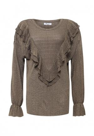 Блуза Paccio. Цвет: коричневый
