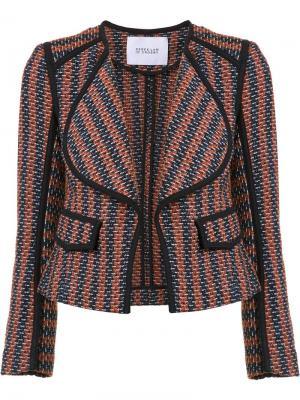 Приталенный пиджак в полоску Derek Lam 10 Crosby. Цвет: синий