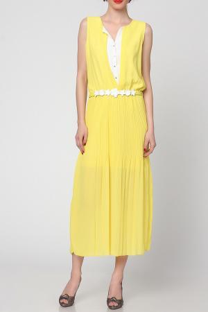 Платье Grazia. Цвет: желтый