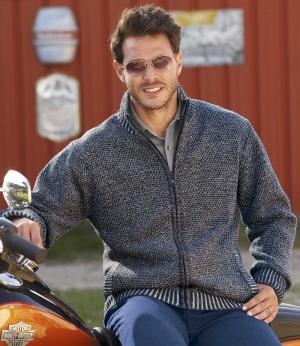 Вязаная Куртка с Подкладкой из Флиса AFM. Цвет: синии