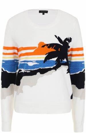 Пуловер прямого кроя с принтом Rag&Bone. Цвет: белый