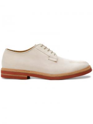 Классические ботинки Дерби Marc Jacobs. Цвет: телесный